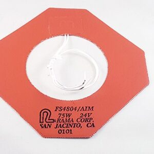 Flexible heater with hole